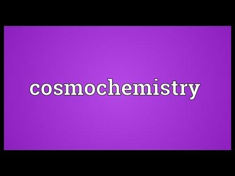 Header of cosmochemistry