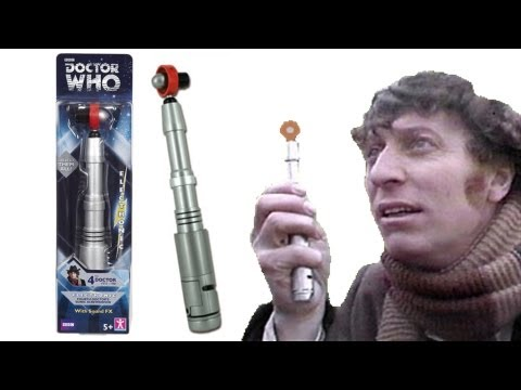 DOCTOR WHO Fourth Doctors Sonic Screwdriver (Re-Release) Toy Review | Votesaxon07