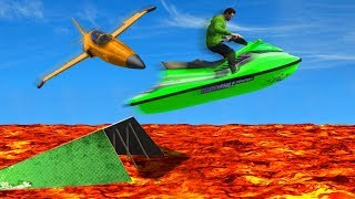 DANGEROUS JETSKI vs. BOMBER PLANES! (GTA 5 Funny Moments)
