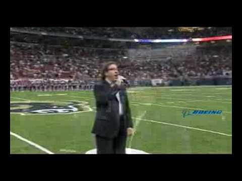 Jon Garrett sings the National Anthem at the Edward Jones Dome Video