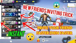 NEW INVITING FRIENDS TRICK INVITE YOUR FRIEND FASTER THEN FASTER INSTANTLY GARENA FREEFIRE🔥🔥🔥