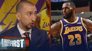 Nick Wright refutes Scottie Pippen's comments on LeBron, talks Lakers | NBA | FIRST THINGS FIRST