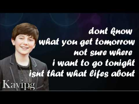 Greyson Chance - Take A Look At Me Now - Lyrics On Screen video
