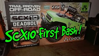 RC AXIAL SCX10 DEADBOLT FIRST BASH | DON'T LEAVE YOUR SCX10 ON THE SHELF !!