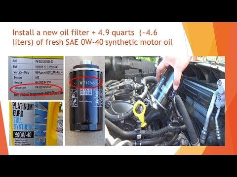2016 VW Tiguan 2.0 TSI Engine Oil Change With Oil Filter Wrench (Cap-type) & Car Ramps