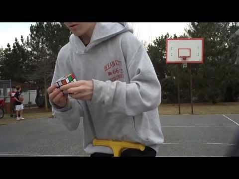 Watch Rubik's Cube on Pogo Stick