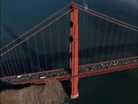Aerial Golden Gate Bridge San Francisco, California, USA Video