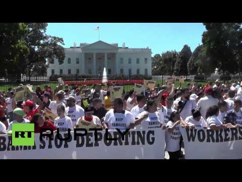 USA: Protesters arrested at White House immigration rally