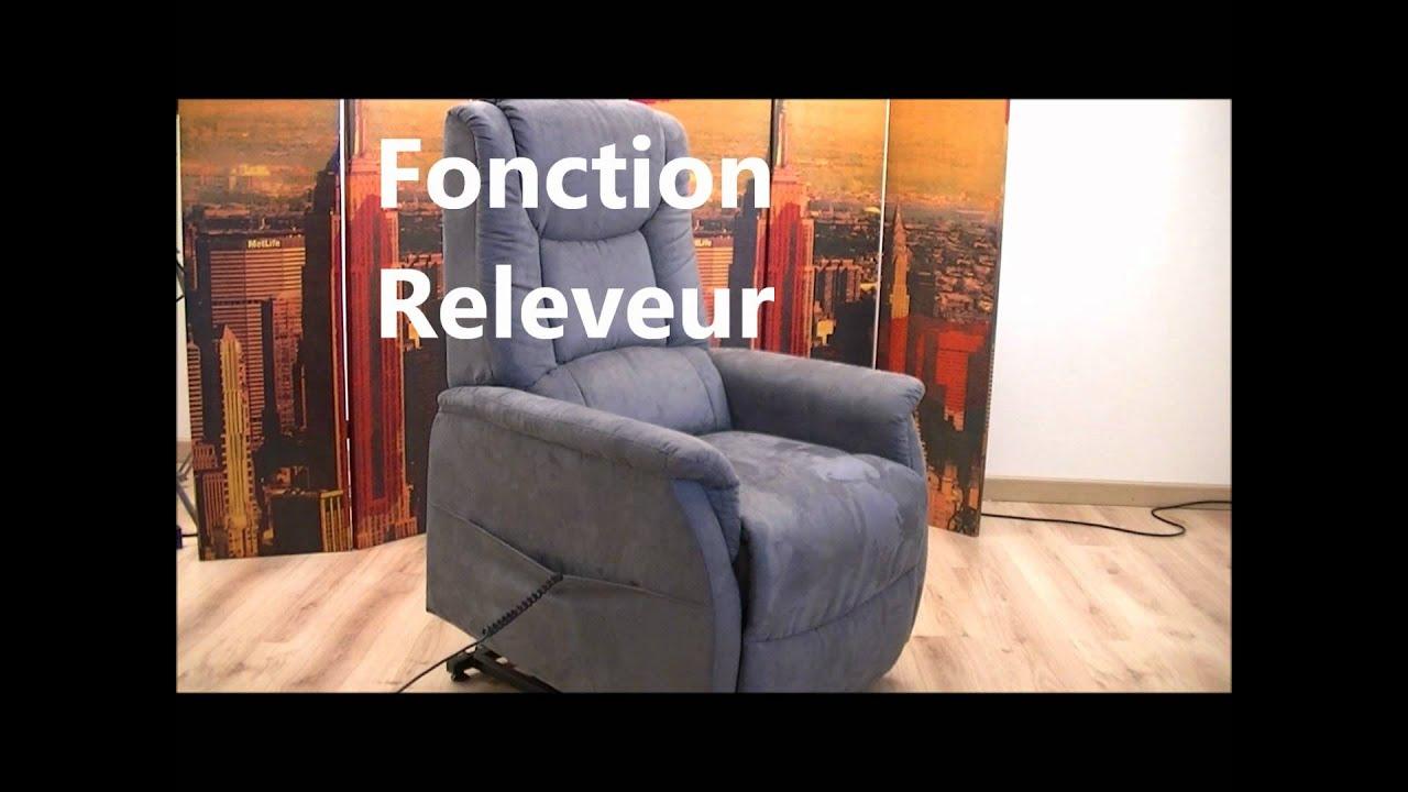 Fauteuil relax releveur opale gris microfibre seniortys prevenchute youtube - Nettoyer fauteuil microfibre ...