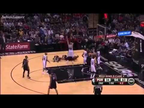 Spurs vs blazers 2014 nba playoffs game 1