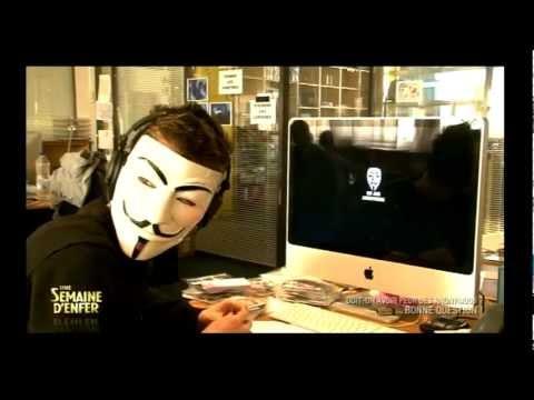 Doit-on avoir peur des Anonymous? [Une Semaine d'Enfer, France 4]