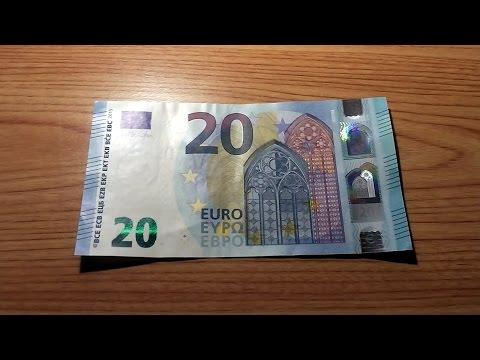 The new 20 Euro note - Die neue 20 Euro Banknote