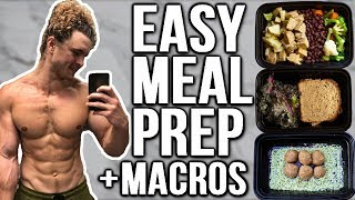 VEGAN MEAL PREP FOR GAINING MUSCLE | HIGH PROTEIN EASY MEALS