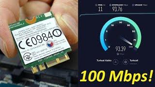 Laptopa WiFi Dopingi: 100 Mbit Hızı Gördük!