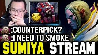 Sumiya Invoker vs Gold Tier Broodmother Counterpick 🤔 Sumiya Facecam Stream Moment #88