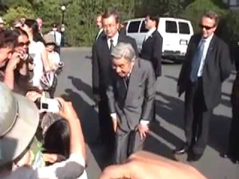 Emperor Akihito and Empress Michiko of Japan 天皇皇后両陛下  Close up Victoria B.C. July 2009