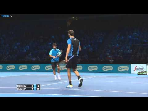 Marcel Granollers discovers this brilliant angle for Hot Shot honours on Sunday at the Barclays ATP World Tour Finals. Watch live matches at http://www.tennistv.com/