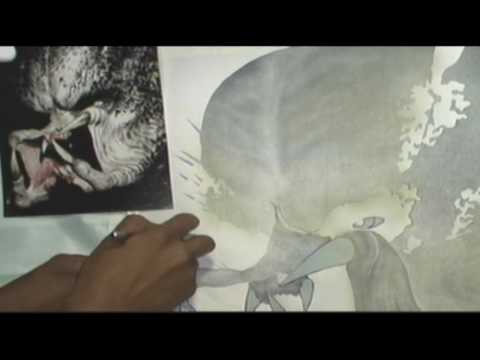 Aerografia sobre tela (Pintando monstruo Depredador parte 3)