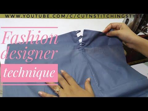 Fashion designer technique,,अब बहुत ही आसान तरीके से बनाए side slits in plazo, Easy way to make slit