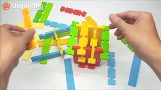 Bé tập xếp hình với bộ đồ ghép hình thông minh 32 chi tiết - bé chơi thả hình với chú voi thông minh