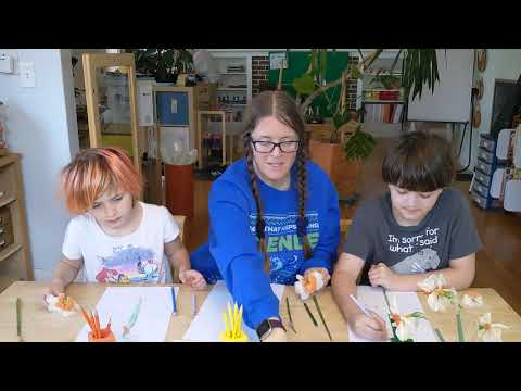 Montessori Primary Distance Learning Plant Study Pt3 Parts of Flower Olive Branch School Portland OR