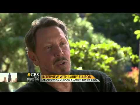 Oracle CEO Larry Ellison on everything from Google to the NSA   CBS News Video