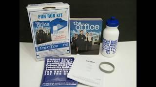 THE OFFICE SEASON 4 DVD DUNDER MIFFLIN FUN RUN KIT w/ SCRIPT! SHIRT BOTTLE LOT