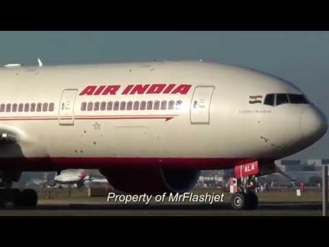 HEATHROW PLANE SPOTTING Air India 777-200LR SPECIAL! Flight Arrivals Landing Departures