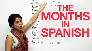 Learn the MONTHS in SPANISH