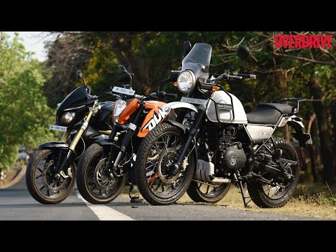 RE Himalayan v KTM Duke 200 v Mahindra Mojo - Comparative Review