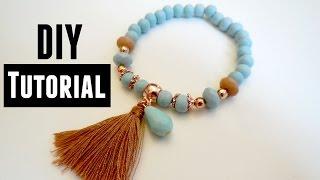 How to make an Elastic Bracelet - Jewelry Making Tutorials