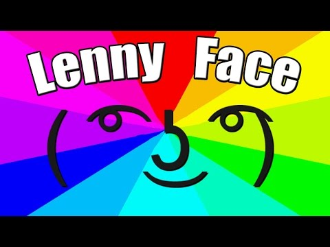 What is the meaning of lenny face? The origin of the le lenny face meme