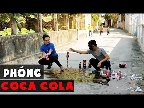 NGHỊCH NGU | TRUNG TÔ Vlogs | Thí Nghiệm Chơi Tên Lửa Bay Coca Bay Vỡ Mặt ( rocket coca ) ✔ | Ten Lua Coca