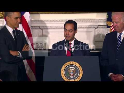 OBAMA HUD ANNOUNCEMENT- JULIAN CASTRO