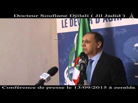 13/09/2015 Conférence de presse du Docteur Djilali Soufiane (Jil Jadid)