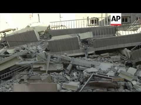 Israelis airstikes hit Gaza Strip; five storey building damaged in overnight attack