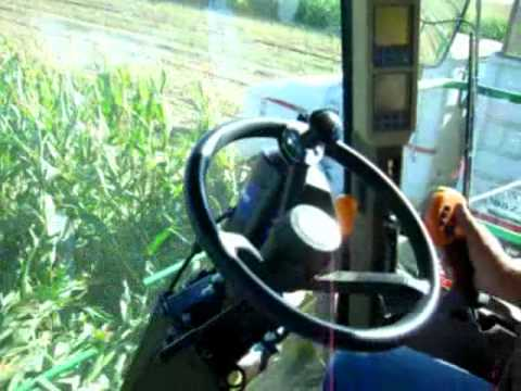 Fast Food for Cows -- Trimble no-hands steering