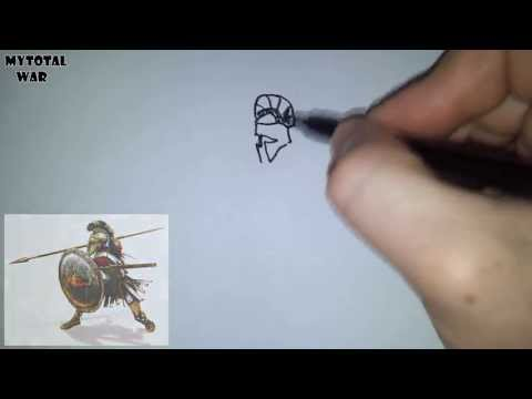 Видео как нарисовать спартанца