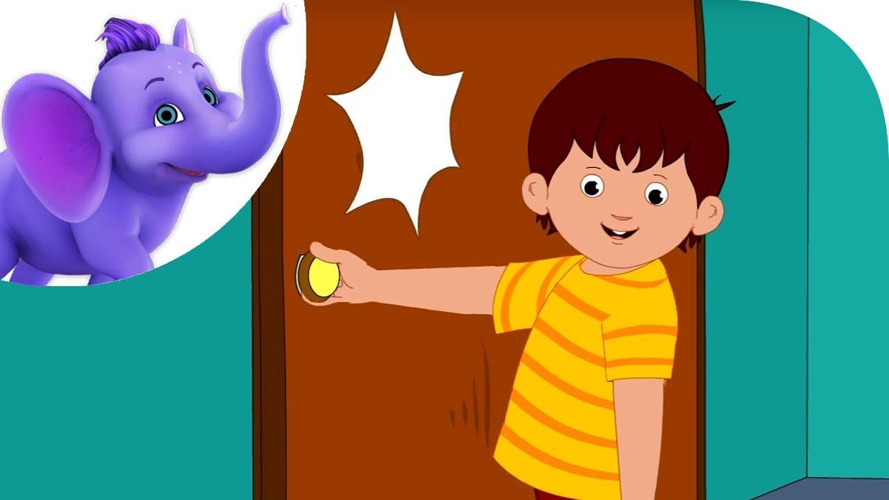Knock At The Door Nursery Rhyme With Karaoke Youtube