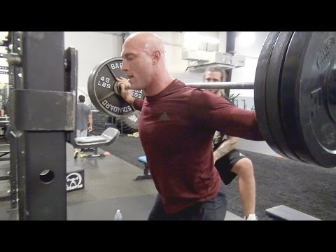 WWE Performance Center's Dan Matha crushes a set of squats