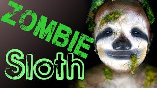 Zombie Sloth Makeup Tutorial.... wait, what??