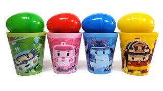로보카폴리 컵안에 다양한 장난감으로 1부터 10까지 영어 숫자놀이와 간단한 영어 색깔놀이 동영상