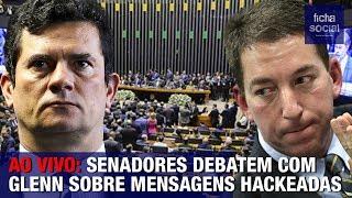 AO VIVO: SENADORES DEBATEM COM GLENN SOBRE MENSAGENS DE SERGIO MORO HACKEADAS - GOV. BOLSONARO