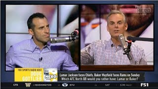 THE HERD | Colin Cowherd DEBATE Who has more to prove in this game: Goff or Baker?
