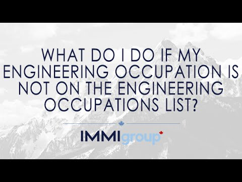 What do I do if my engineering occupation is not on the Engineering Occupations List?