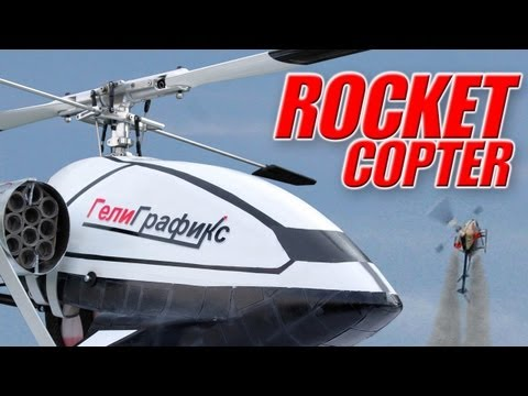 World s first ROCKET-DRIVEN helicopter: EXTREMELY FAST !!!