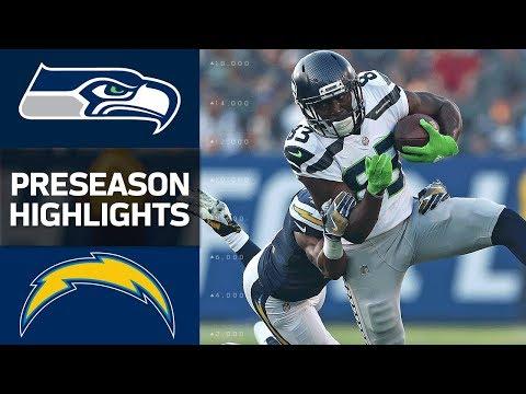 Seahawks Vs Chargers Nfl Preseason Week 1 Game Highlights