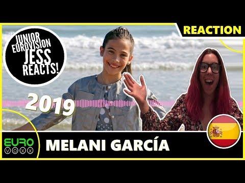 SPAIN JUNIOR EUROVISION 2019 REACTION: Melani García - Marte | JESS REACTS!