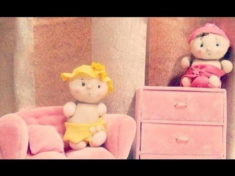 boneca meia decoracao quarto de bebe youtube. Black Bedroom Furniture Sets. Home Design Ideas