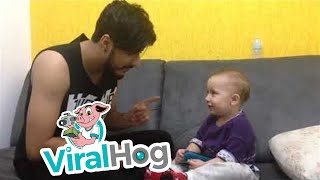Cute Baby Interrupts Father Trying to Sing